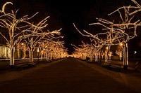 Подключение освещения зданий в Перми