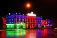 Наружное освещение: архитектурное освещение зданий, фасадов дома в Перми